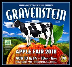 Gravenstein Apple Fair, Sebastopol August 13-14, 2016